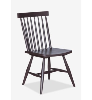 (LS) Midtown Spindle Back Side Chair-Ebene..(17.7X18.5X34)..
