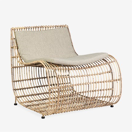 Marvel Occasional Chair With Iron Frame Wrapped With