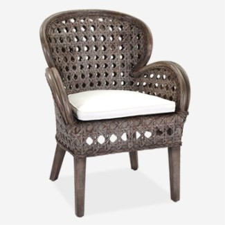 (LS) Sahara occasional chair - Grey Wash (27x27x37)