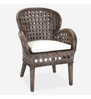 Sahara occasional chair - Grey Wash (27x27x37)