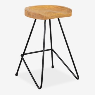 Sallie counterstool with solid metal legs (min 2 pc) (16x16x24)....