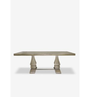 (SP) Trestle Mahogany Solid Dining Table (87X35X30) **TOP + LEGS = 2 BOXES PER PIECE**