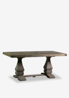 (LS) Benton Trestle Dining Table with Inlaid Top (71x35x30)..