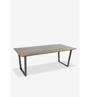 Thomas dining table with metal base(79X39X30) (2 BOXES PER ITEM)