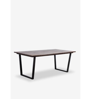 (LS) Thomas dining table with metal base..(67X39X30)..