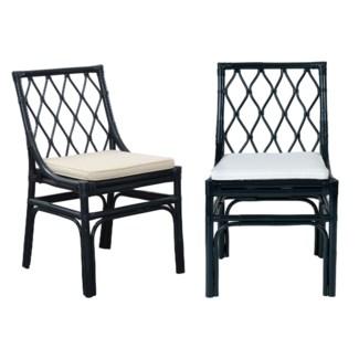 Brighton rattan Chair W/Loose Cushion-Navy Blue - MOQ 2 (20X22X33)