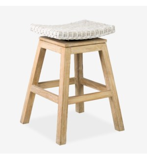 Carmen Counterstool-Aged White Finish(17X17X24) (Assembly Required)