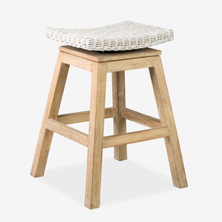 Carmen Counterstool Aged White Finish 17x17x24 Assembly