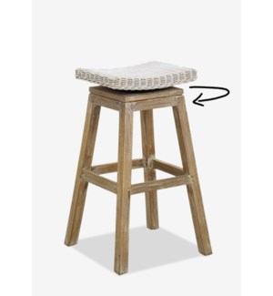 Carmen Barstool-White Aged Finish (17X17X29.5) (Assemby Required)