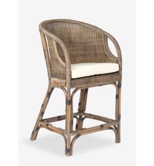 Daphnie Rattan Counterstool-Grey Wash (21X20.5X38)