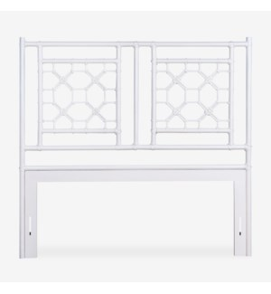 Lattice Headboard-Queen - White Solid (62X2X60)