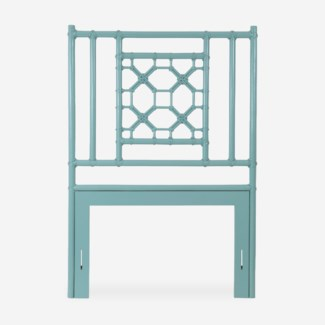 (LS) Lattice Headboard-Twin - Sky Blue(41.5X2X60)