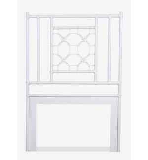 Lattice Twin Headboard, White Solid (41.5X2X60)