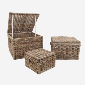 Braden Baskets - Set of 3 (31X31X22/25X25X18/18X18X12)