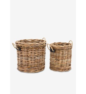 (30% Off) Leeton Round Baskets - Set of 2 (24X24X22/18X18X20)