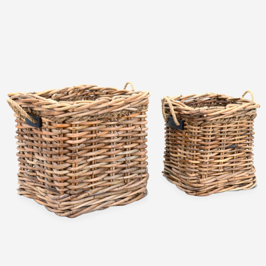 Leeton Square Baskets - Set of 2 (24X24X22/18X18X20)