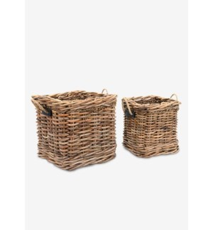 (LS) Leeton Square Baskets - Set of 2 (24X24X22/18X18X20)