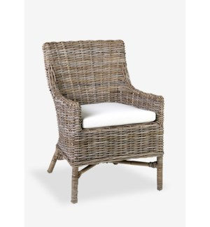 Morgan rattan arm chair - Kubu Grey.(23.5X26.5X35)....