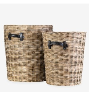 (32.77% Off) Rana Baskets - Set of 2 (18x18X20.5/15x15X16)