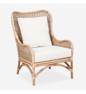 Sheridan Rattan Occasional Chair - White Cushion