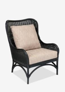 (LS) Sheridan Rattan Occasional Chair-Black Rattan Color..(27X32X35.8)..