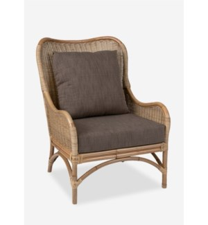 Sheridan Rattan Occasional Chair (27x32x35.8)