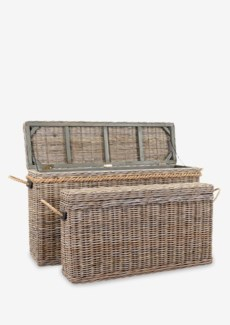 Sabrina Basket Console set of 2 W/Storage (55X16X30/43X10X24)