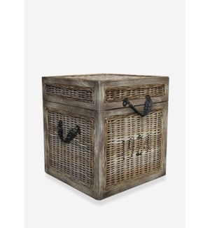 (32.35% Off) Seaton Trunk Rattan-Koboo Grey..(18x18x20)....
