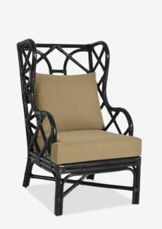 (LS) Naples Wingback Chair - Black (25x31.5x44)