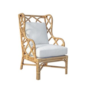 Naples Wingback Chair - Natural (25x31.5x44)