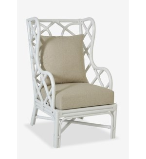 Naples Wingback Chair - White (25x31.5x44)