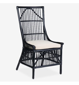 Winston Rattan Dining Side Chair - Black - MOQ 2 (package: 2pcs/box) price is per piece