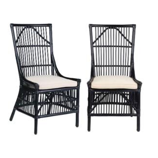 Winston Rattan Dining Side Chair - Black - MOQ 2