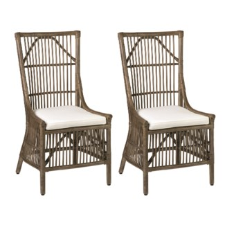 Winston Rattan Dining Side Chair - Vintage Grey - MOQ 2 (22x23.6x41.3)