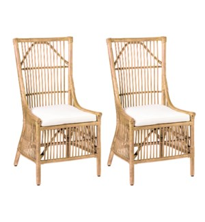 Winston Rattan Dining Side Chairs (Set of 2) - Natural(package: 2pcs/box) priced per pair