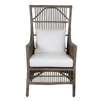 Winston Rattan High Back Arm Chair Grey Moq 2