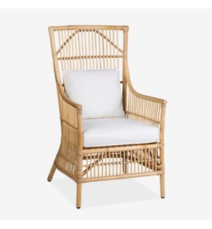 Winston Rattan High Back Arm Chair Natural -  MOQ 2 (24x27x43)