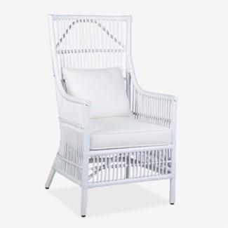 Winston Arm Chair - White - MOQ 2(24X27X43)