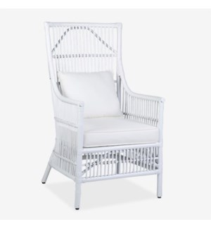 Winston Arm Chair - White - (24X27X43)