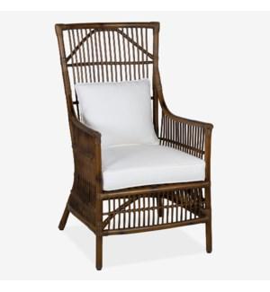 Winston Rattan High Back Arm Chair -   MOQ 2 (24x27x43)