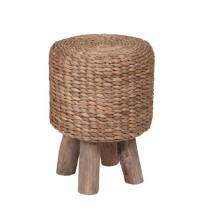 (LS) Waterhyacinth Drum Stool (14x14x18)....