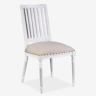 Wyatt Wooden Dining Chair - Whitewash MOQ 2
