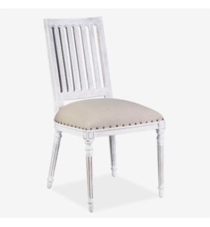 Wyatt Wooden Dining Chair - Whitewash MOQ 2 (package: 2pcs/box) price is per piece