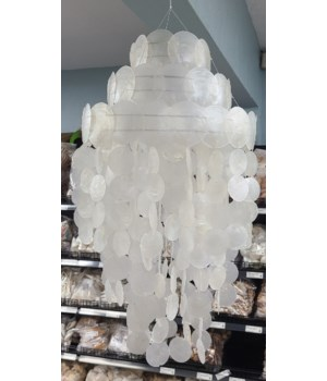 LARGE CAPIZ CHANDELIER
