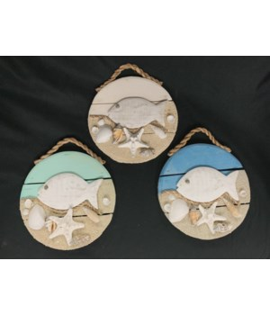 FISH WALL DECOR 7""