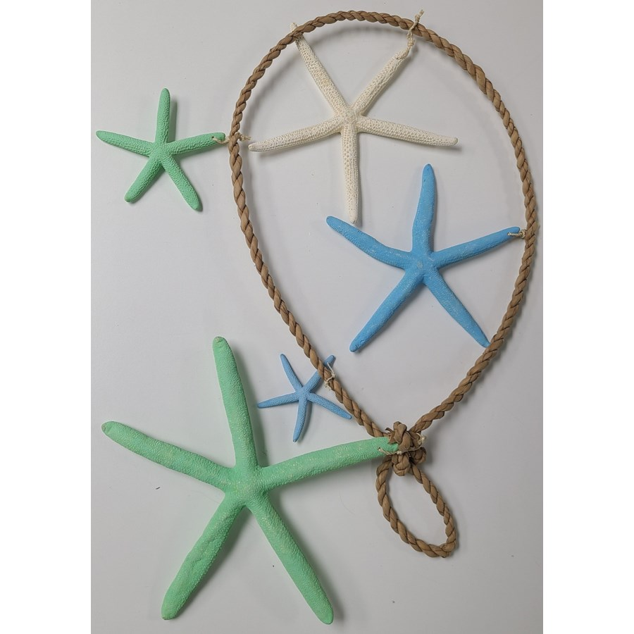 "48"" GRADUATED SEAFOAM STAR GARLAND"