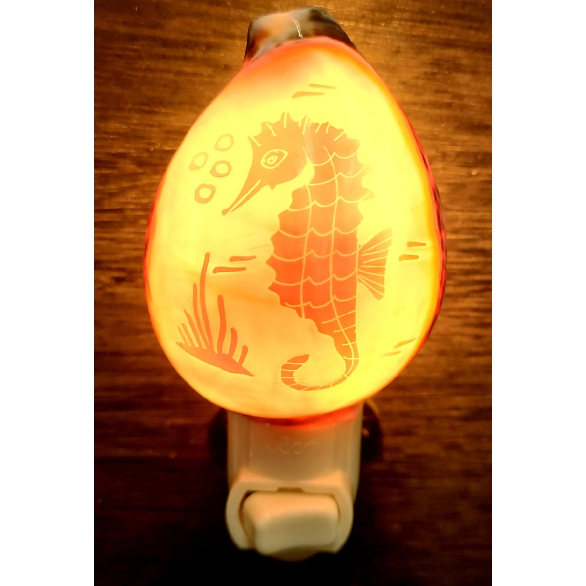 SEAHORSE CARVED COWRIE