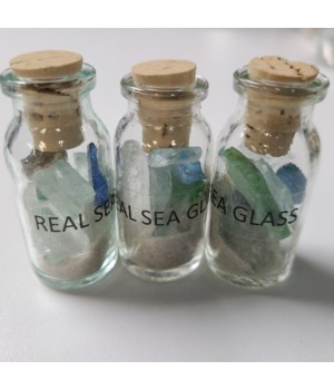 SEA GLASS W/SAND IN BOT
