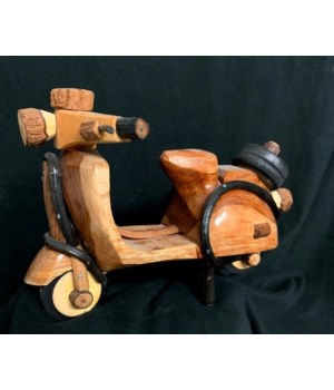 WOOD SCOOTER 7""