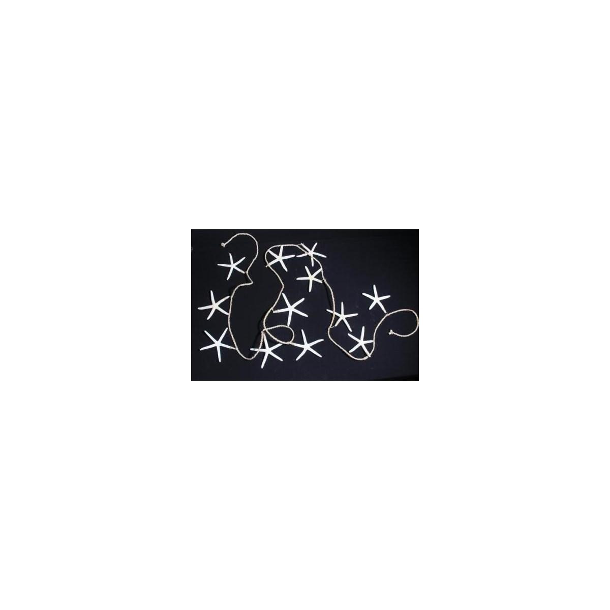 WHITE STAR GARLAND 8'